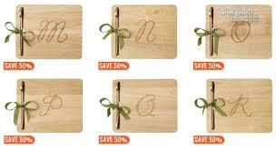 monogram cheese board chapters indigo canada 50 monogram cheeseboards now just 9 75