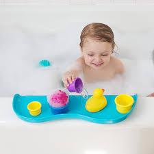amazon com shelfie bath toy organizer bath shelf aqua blue