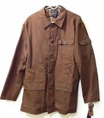 brown collection pendleton jacket mens l national pack collection button front coat