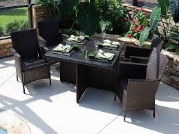 Wicker Outdoor Patio Furniture - lantana 5 pc dining set cil 5