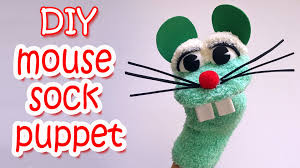 how to make a mouse sock puppet ana diy crafts youtube
