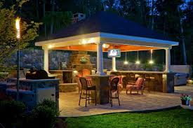 Outdoor Kitchen Lighting Benefits Of An Outdoor Kitchen Gazebo Video And Photos