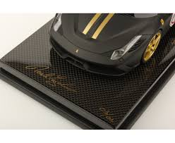ferrari gold 458 speciale thank japan matt black w gold livery carbon base