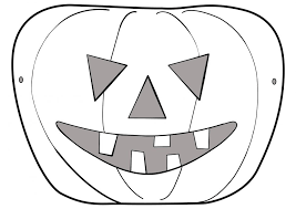 coloring pages endearing halloween mask craft pumpkin coloring