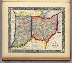 County Map Of Indiana County Map Of Ohio And Indiana David Rumsey Historical Map