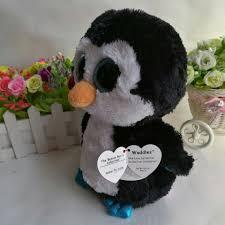waddles penguin ty beanie boos 10 u0027 25cm big eye plush toys stuffed