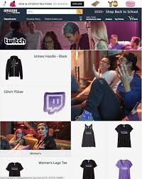 twitch debuts first official merchandise store powered by amazon