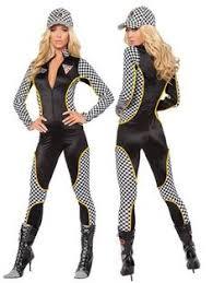 Womens Boxer Costumes Halloween Womens Racing Racecar Driver Pit Crew Halloween Costume