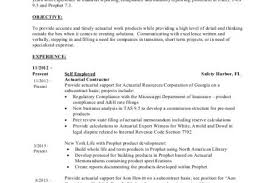 Actuarial Resume Example by Actuarial Science Resume Template Examples