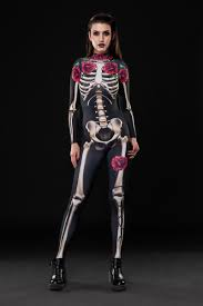 Skeleton Halloween Costume Kids Skeleton Glam Halloween Costume Full Body Skeleton