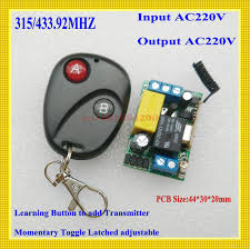 remote control on off light switch rf wireless light switch ac 220v 1ch led l bulb remote control