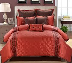 13 piece grenoble red chocolate bed in a bag set