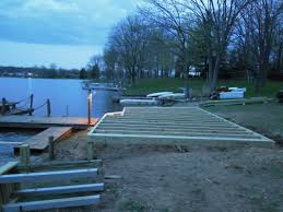 treated lumber deck u0026 dock lake lorelei ohio area revisited