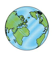 global map earth global earth map world geography image royalty free vector