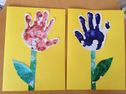 hand prints for mothers day notes to self