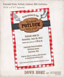 invitation sles printable picnic potluck cookout bbq invitation digital file
