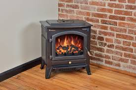 Electric Fireplace Stove Comfort Smart Vermont Black Electric Fireplace Stove With Remote