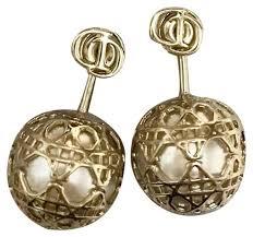 cd earrings gold tribal pearl cd earrings tradesy