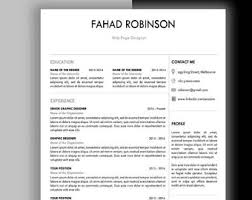 2 Page Resume Sample by Modern Man Resume Template Mac Or Pc Minimalist Resume 1 Page