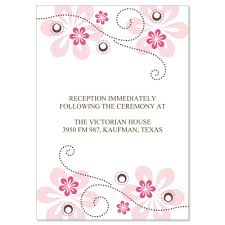 wedding reception cards pink brown reception card templates fuschia do it