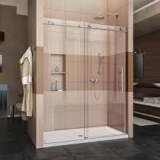 Shower Door Kits Dreamline Enigma X 34 In X 60 In X 78 75 In Sliding Shower Door