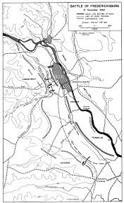 13 Colony Map Civil War Battle In Virginia Fredericksburg I