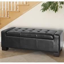 bench bench ottoman storage bedroom modern furniture of dark