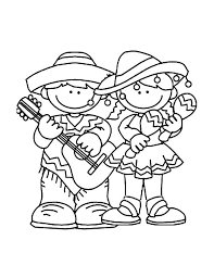 kids celebrate cinco mayo coloring pages place color