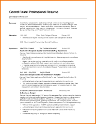 6 summary for resume examples mbta online