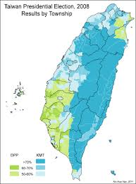 Map Of Taiwan The Geography Of Voting Patterns In Taiwan U2013 Ballots U0026 Bullets