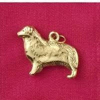 australian shepherd 200 sterling silver australian shepherd dog charm or pendant show