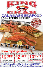 Seafood Buffets In Myrtle Beach Sc by King Crab Calabash Seafood Buffet Coupon Yelp