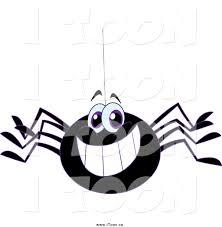 royalty free cartoon of a happy grinning black spider by yayayoyo