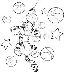popular character free coloring activity winnie the pooh tigger