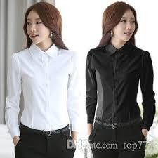 womens blouses for work fashion white shirt work wear sleeve tops slim