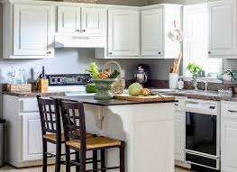 can you paint your kitchen cabinets without removing them remodelaholic how to paint your kitchen cabinets in one