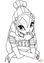 winx club bloom coloring page free printable coloring pages