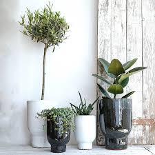 Planter Pot White Or Dark Green Ceramic Planter Pot By Lilac Coast