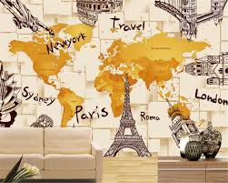 online get cheap world architecture wall mural aliexpress com beibehang creative 3d architecture world map mural background wall living room bedroom tv background mural papel
