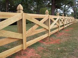 custom wood crossbuck horse fence design by mossy oak fence