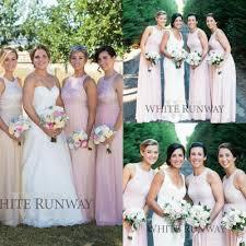 bridesmaids robes cheap shop 2015 lace chiffon blush pink bridesmaid dresses