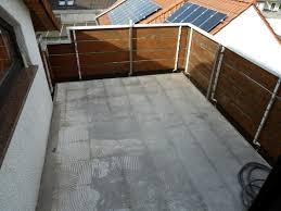 estrich balkon freihängender balkon nachträglich gefälle anbringen und abdichten