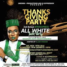thanksgiving party flyer afroexpress thanksgiving soiree all white yacht party tickets