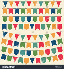 Happy Birthday Flags Bunting Flags Colorful Party Garland Flag Stock Vector 751201192