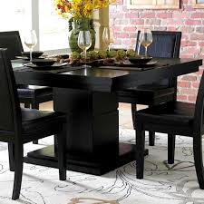 bedroom pleasant lodia piece dining set white black table 5