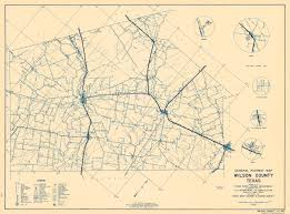 Tx State Map by Old County Map Wilson Texas Highway Dept 1936
