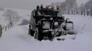 land rover snow land rover defender 90 ploughing snow youtube