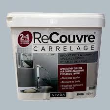 enduit pour cuisine enduit recouvre carrelage cuisine bains apara ciment 10kg pas cher