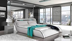 Modern Platform Bed With Lights - gocorfy king white modern platform bed with storage and multi