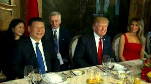 president trump at mar a lago dinner table with chinese president